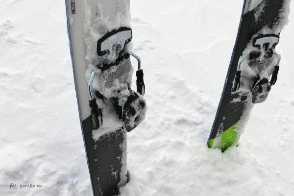 Wiązanie Marker Alpinist - tył ze ski stoperem