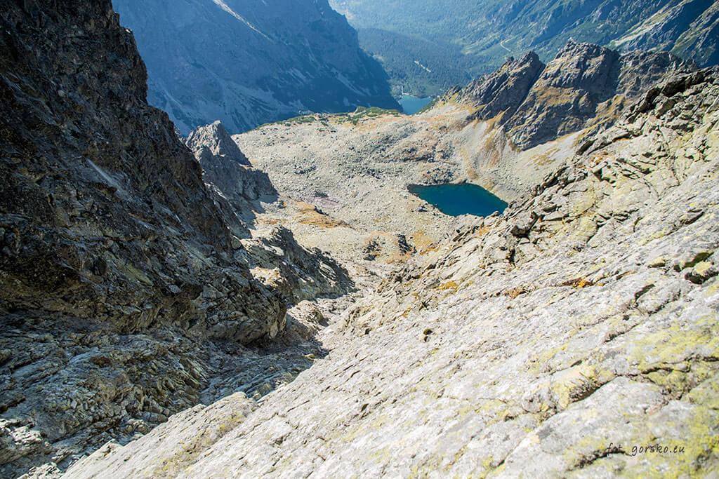 Wysoka Tatry główny żleb widok od góry