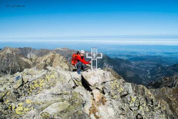 Wysoka Tatry szczyt z krzyżem