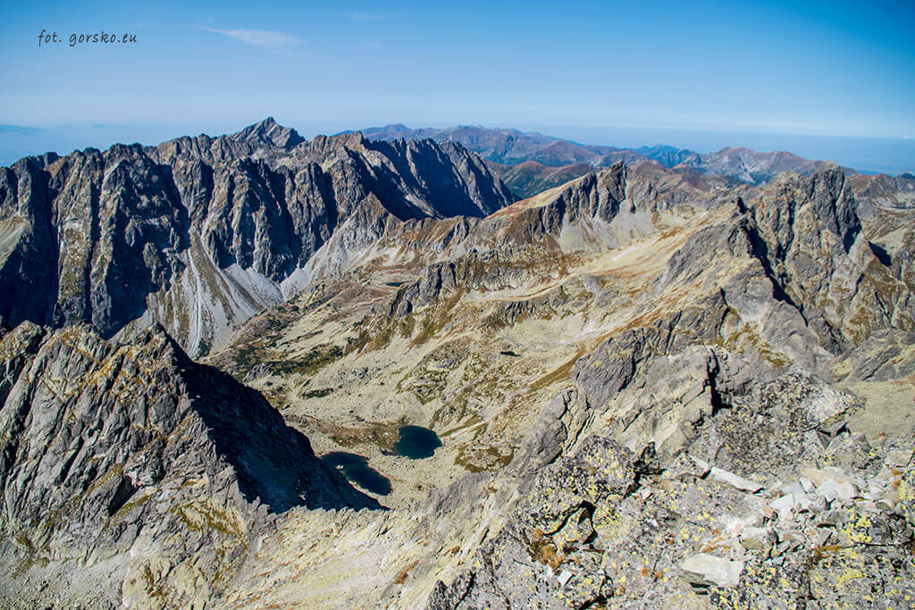 Wysoka widok ze szczytu na zachód