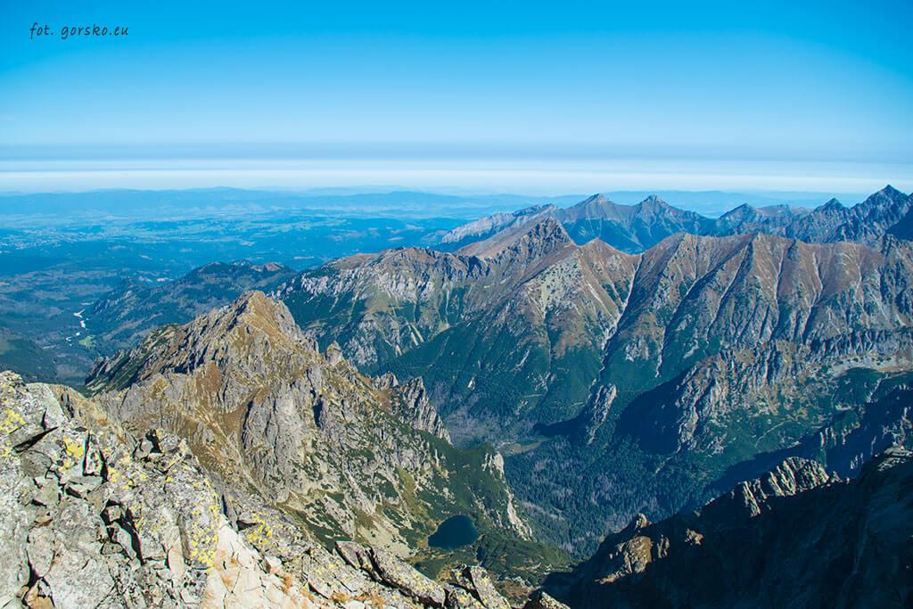 Wysoka widok ze szczytu