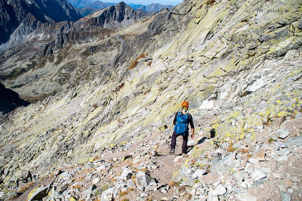 Wysoka zejście przez Przełęcz Waga
