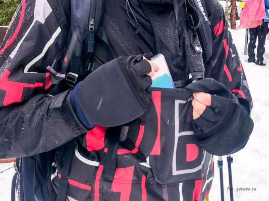 Kurtka na narty Columbia Park Run Anorak kieszen na brzuchu