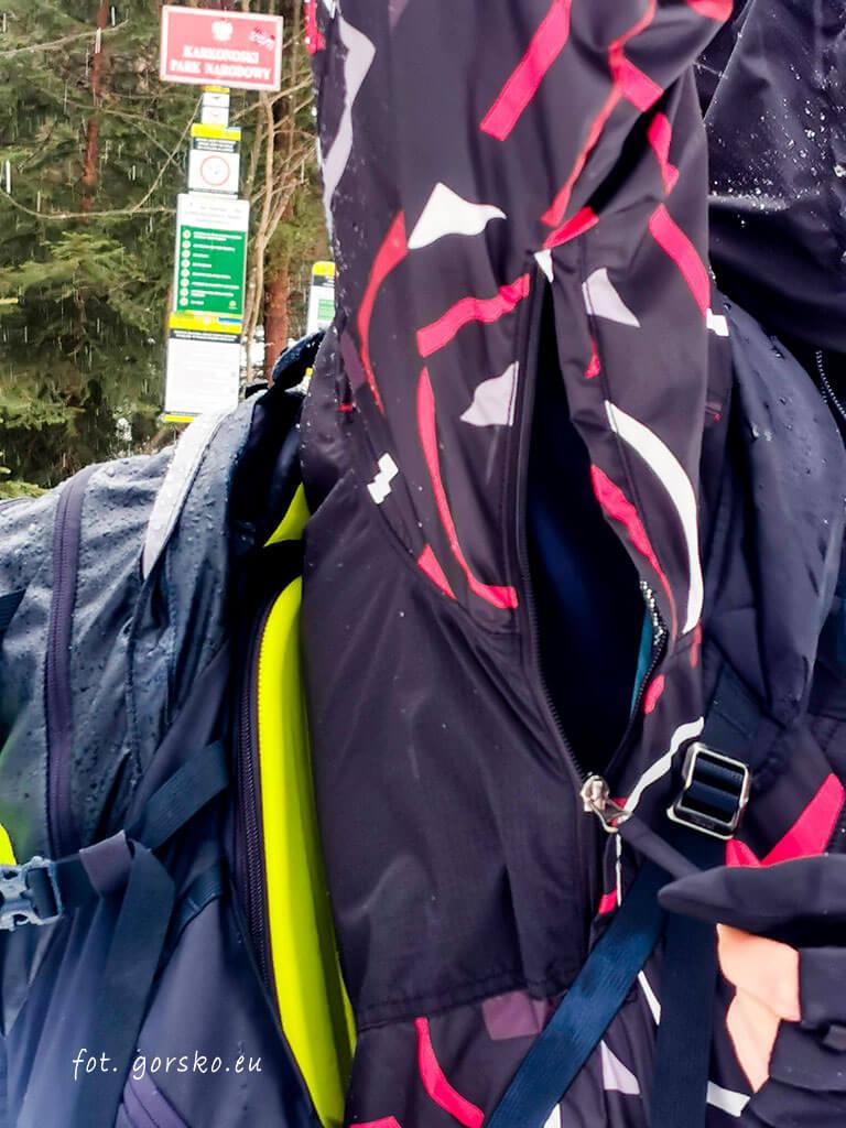 Kurtka na narty Columbia Park Run Anorak otwory wentylacyjne