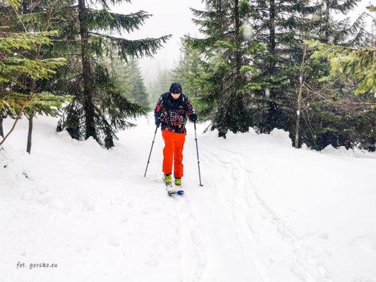 Kurtka na narty Columbia Park Run Anorak test