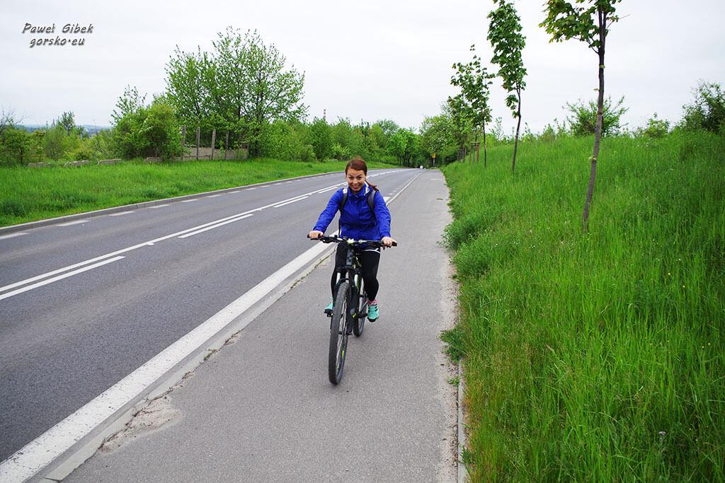 Rowerowy Szlak Orlich Gniazd. Droga wyjazdowa z Częstochowy