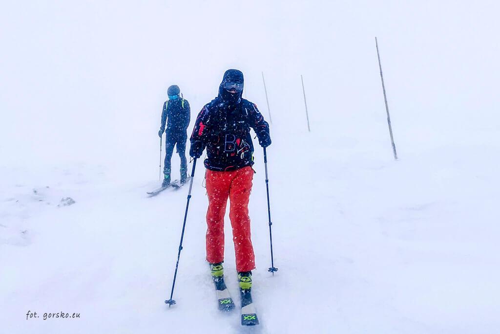 Łabski-szczyt-Szrenica-narty-skiturowe-na grzbiecie Karkonoszy